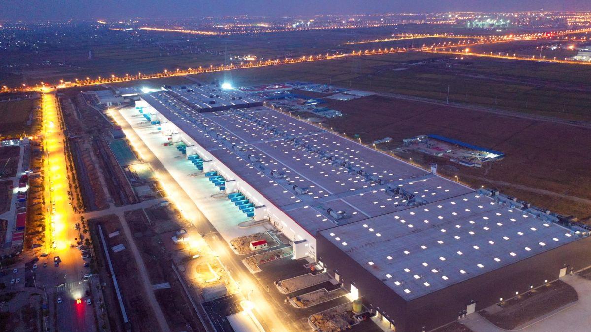 The Tesla Gigafactory near Shanghai.
