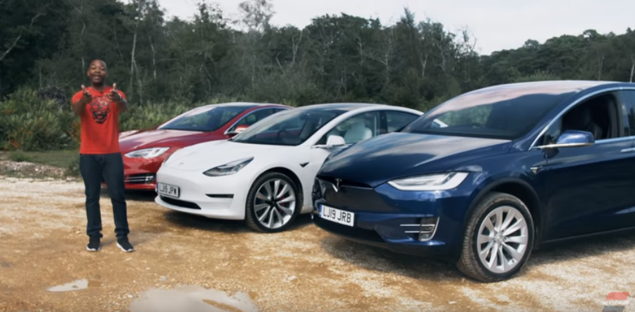 Tesla model s 3 x compared