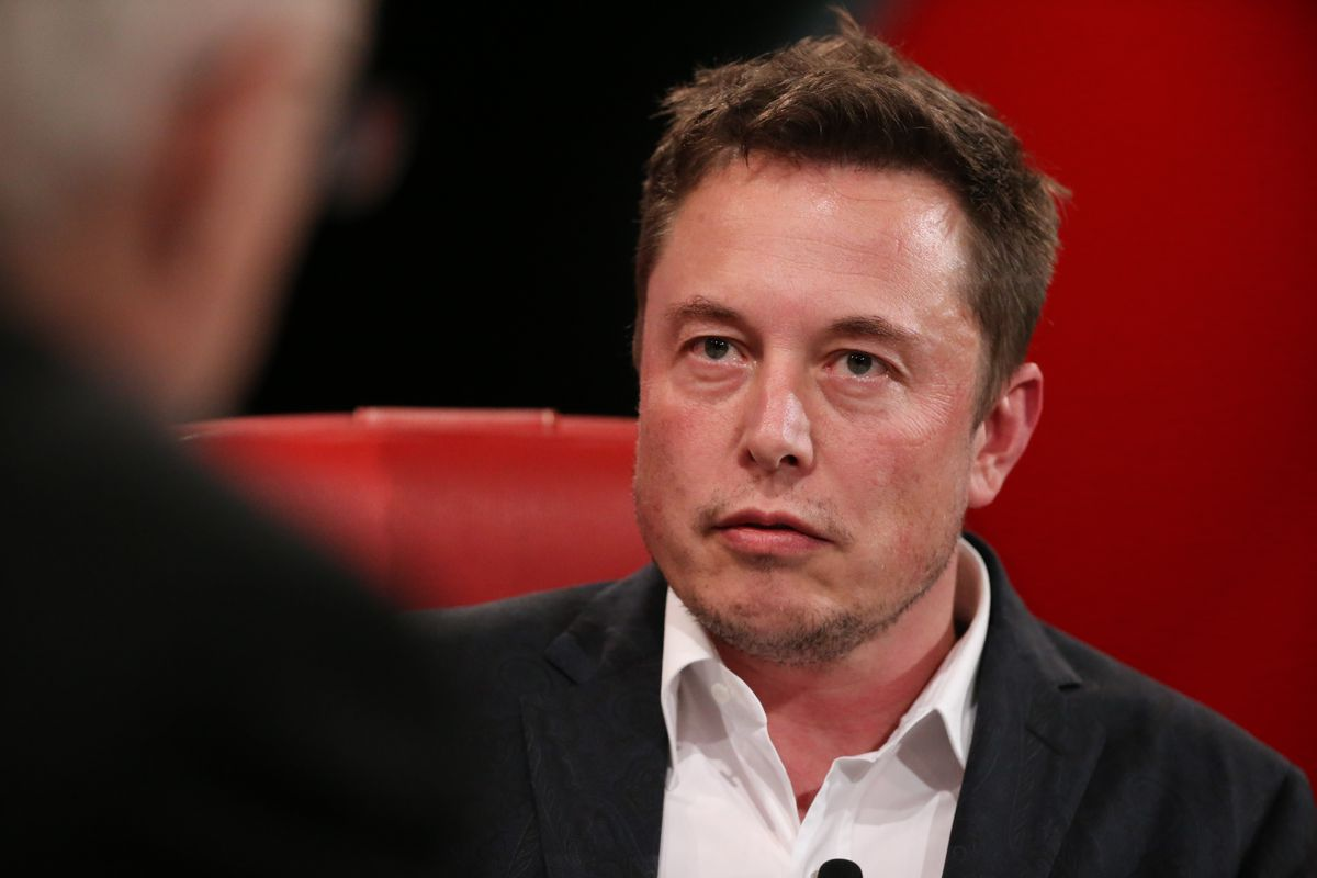 Elon Musk looking serious